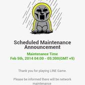 LINE Game, PokoPang(波兔村保衛戰), 伺服器維修