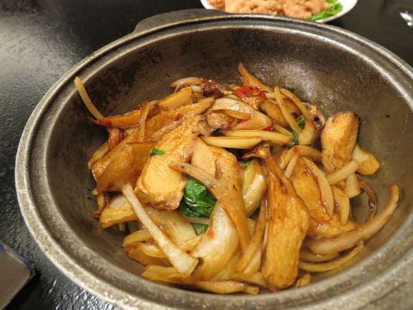 醉翁漁港海鮮, 三杯杏鮑菇