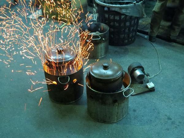 重炭燒羊肉爐, 炭火
