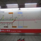 台北捷運, 紅線, 信義線, 中正紀念堂站, 路線看板