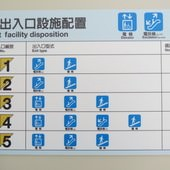 台北捷運, 紅線, 信義線, 台北101/世貿站, 各出口設施配置圖