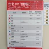 台北捷運, 紅線, 信義線, 台北101/世貿站, 搭車時刻表