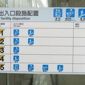 台北捷運, 紅線, 信義線, 信義安和站, 各出口設施配置圖