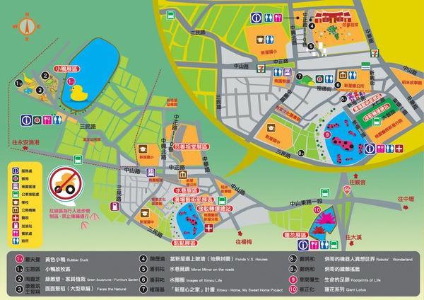 桃園地景廣場藝術節, 地圖