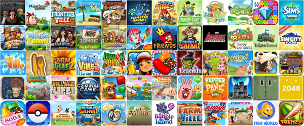 Game, 遊戲目錄(Facebook、Google+、APP)