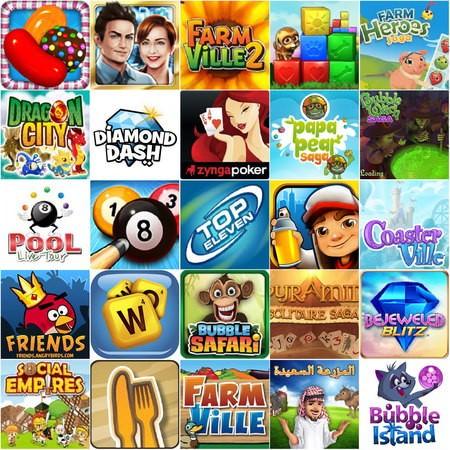 Facebook 最熱門的25個遊戲(2013年7月)