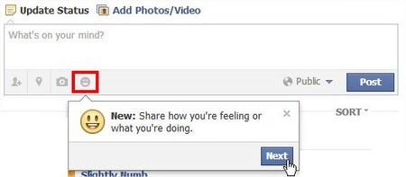 臉書(Facebook)告訴朋友你在幹麼