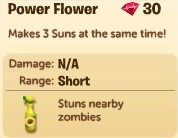 Plants vs. Zombies Adventures, Power Flowers