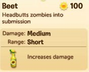 Plants vs. Zombies Adventures, Beet