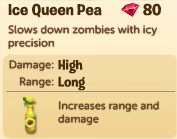 Plants vs. Zombies Adventures, Ice Queen Peas