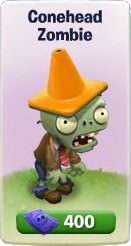Plants vs. Zombies Adventures, Conehead Zombie