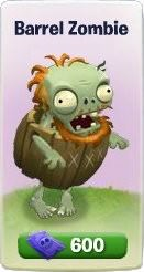 Plants vs. Zombies Adventures, Barrel Zombie