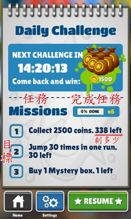 Subway Surfers, Missions