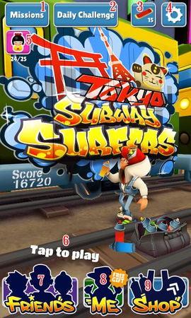 Subway Surfers, facebook games