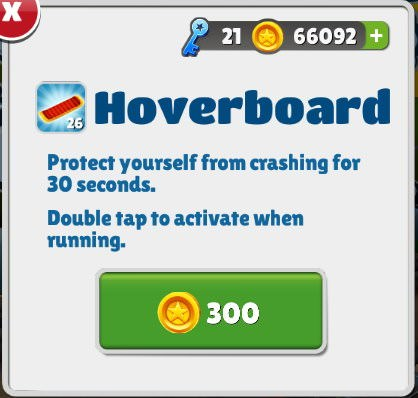Subway Surfers, Hoverboard