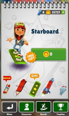 Subway Surfers, Boards