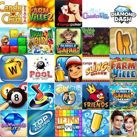 Facebook 最熱門的25個遊戲(2013年3月)