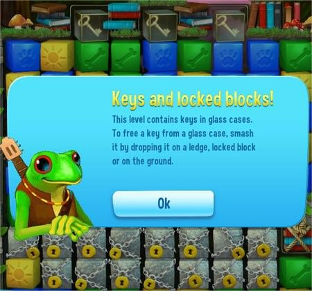 Pet Rescue Saga, key & locked blocks