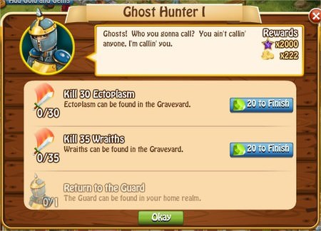 Ghost Hunter I, Legends: Rise of a Hero