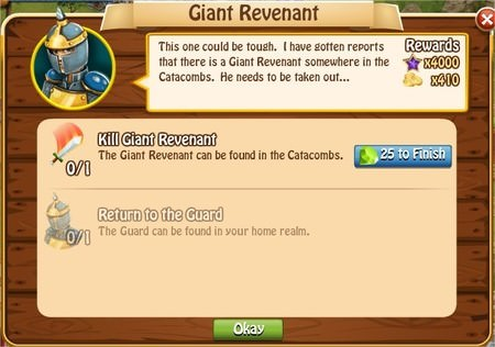 Giant Revenant, Legends: Rise of a Hero