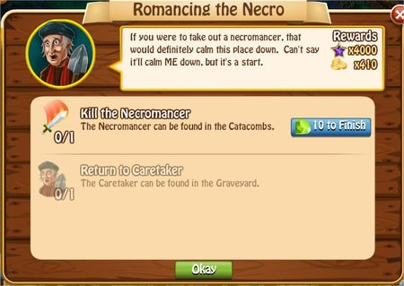 Romancing the Necro, Legends: Rise of a Hero