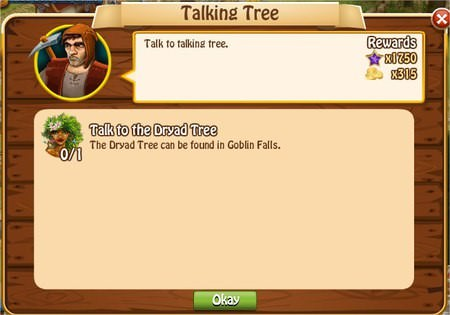 Talking Tree, Legends: Rise of a Hero