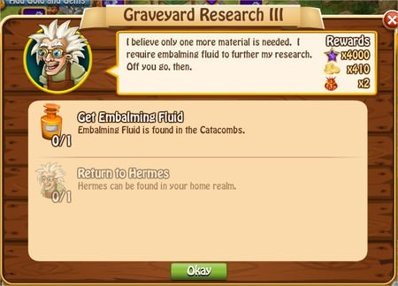 Graveyard Research III, Legends: Rise of a Hero
