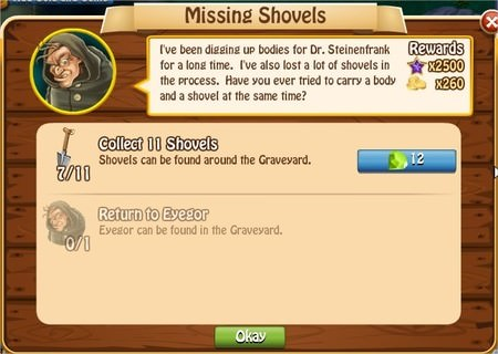 Missing Shovels, Legends: Rise of a Hero