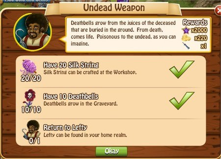 Undead Weapon, Legends: Rise of a Hero