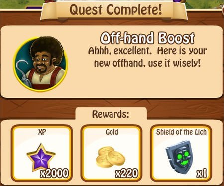Off-hand Boost, Legends: Rise of a Hero