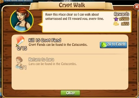 Crypt Walk, Legends: Rise of a Hero