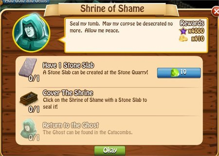 Shrine of Shame, Legends: Rise of a Hero