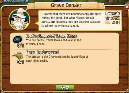 Grave Danger, Legends: Rise of a Hero