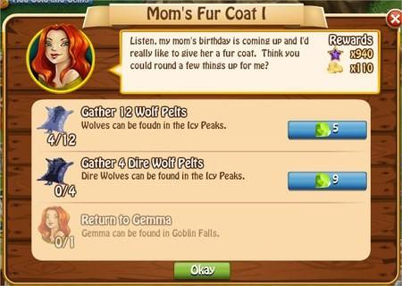 Mom's Fur Coat I, Legends: Rise of a Hero