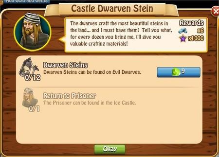 Castle Dwarven Stein, Legends: Rise of a Hero