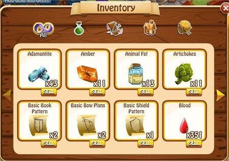 Inventory, Legends: Rise of a Hero
