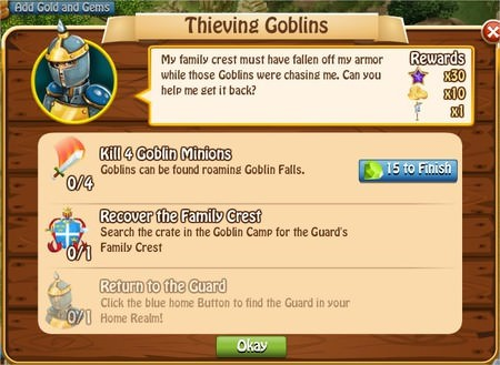 Thieving Goblins, Legends: Rise of a Hero