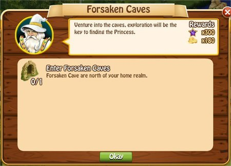 Forsaken Caves, Legends: Rise of a Hero