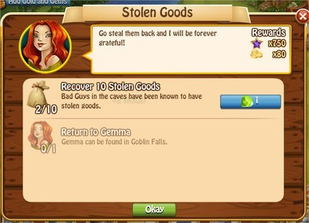 Stolen Goods, Legends: Rise of a Hero