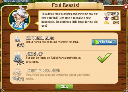 Foul Beasts!, Legends: Rise of a Hero
