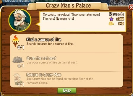 Crazy Man's Palace, Legends: Rise of a Hero