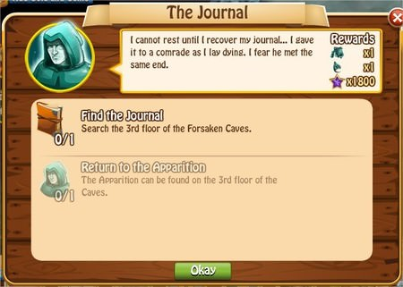 The Journal, Legends: Rise of a Hero