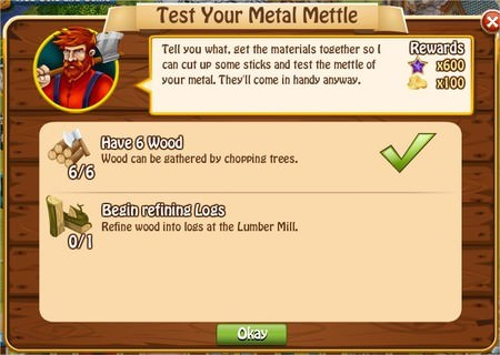 Test Your Metal Mettle, Legends: Rise of a Hero