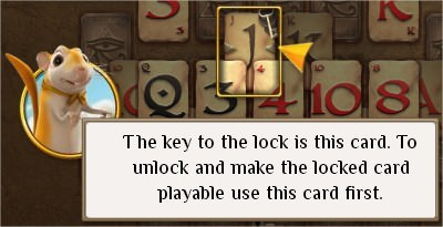 Pyramid Solitaire Saga, key & Lock