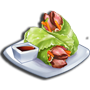 牛肉生菜捲,ChefVille(廚師小鎮)
