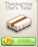 ChefVille, 感恩節主廚桌