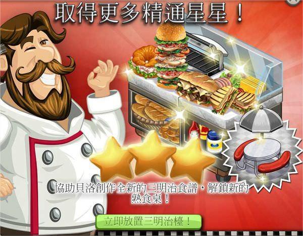 ChefVille(廚師小鎮)三明治