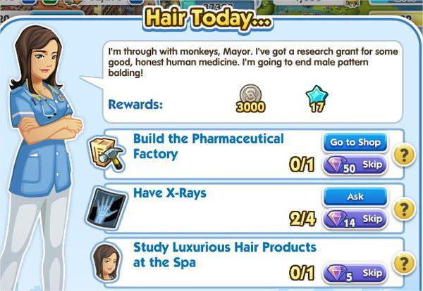 SimCity Social, Hair Today...
