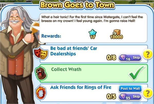 SimCity Social, Brown Goes to Town