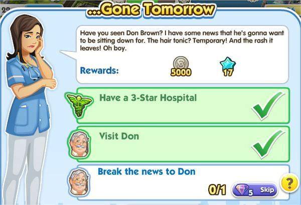 SimCity Social, ...Gone Tomorrow